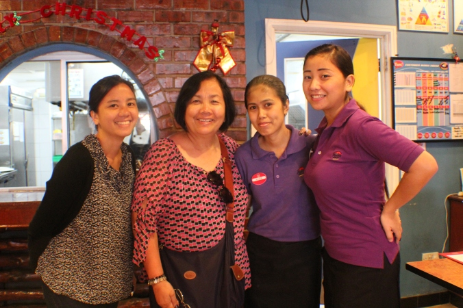 Two Filipino women we met in Pizza Hut. They were so accommodating and shared with us their stories on how they were able to get jobs in Brunei.